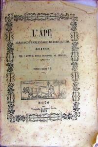 Almanacco e calendario di agricoltura del 1870, Noto, Tipografia di Andrea Norcia, 1869 (coll. Lombardo)