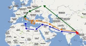 Rotte-della-migrazione-dal-Bangladesh-allItalia-negli-anni-90-elab.-Della-Puppa