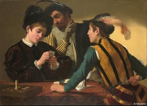 I bari, di Michelangelo Merisi o Caravaggio