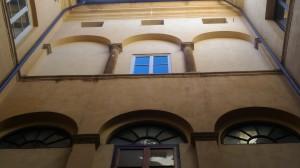 Palazzo Piccolomini, corte rinascimentale (@Niglio 2018)