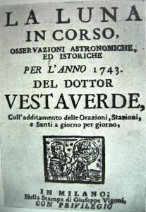 Lunario del 1743. Milano, Nella stampa di Giuseppe Vigoni (coll. L. Lombardo.