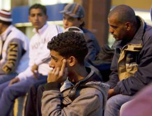 Saidi Mehe alla stazione Termini con i tunisini