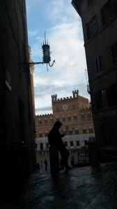 Piazza del Campo da un'altra prospettiva