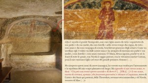 Tomba ad arcosolio dettaglio iscrizione.
