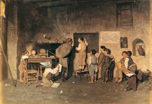La-scuola-del-villaggio-di-G.-Costantini-1870.