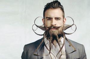 Barba e baffi hipster