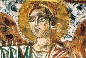 Cripta-santa-cristina-Carpignano-part.-affresco-Argcangelo-Gabriele.