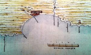 Tiburzio Spannocchi. Disegno acquerellato della linea di costa di Mazara (1577-80)
