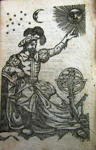 . Antiporta dell'Almanacco del 1848 L'astrologo. (coll. Lombardo).