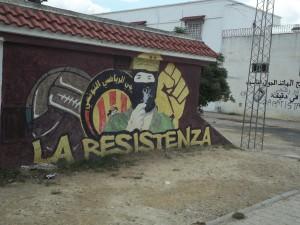 Chawatt frazione di Jedida, graffiti (ph. C. Sebastiani)