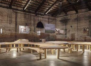 Un dettaglio del padiglione Italia alla Biennale di Venezia 2018