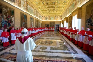 Pope Francis during  the international meeting for the Peace