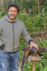 Un addestratore di falchi (ph. A. Belvedere).