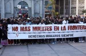 Demonstration against the border crossing between Spain and Morocco