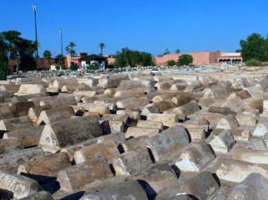 Cimitero di Mellah, antico quartiere ebraico di Marrakesh