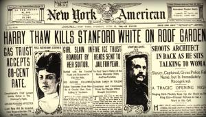 Uno dei reports sui giornali, dopo l'omicidio.