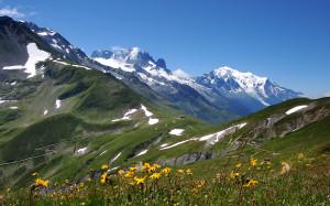 Alpi svizzere in estate.