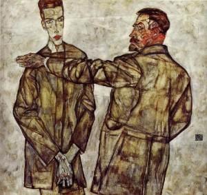 Padre-e-figlio-di-E.-Schiele-1913