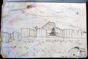 Himera, tempio così detto della Vittoria; dal taccuino di viaggio dell'autore.
