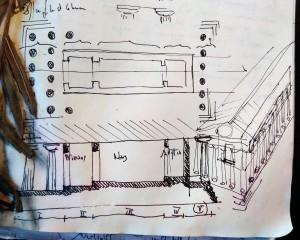 Il tempio C di Selinunte, dal quaderno di disegno dell'autore).