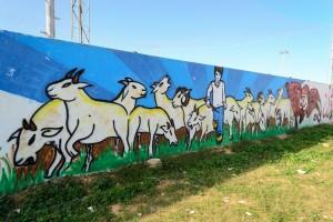 Tunisi , murales nel quartiere della Marna 2 (ph. Roberto Ceccarelli).