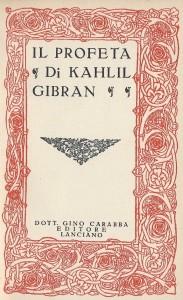 Il Profeta, Carabba, 1936