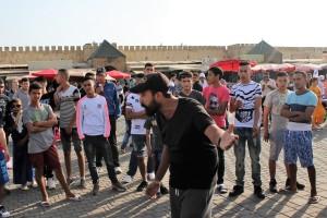 Mohamed Amine Iziki, Piazza el Hedim- Meknes (E. Scopelliti).