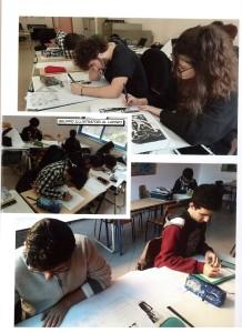 Studenti impegnati nel laboratorio.