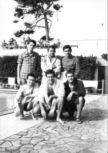 .Marco Malaguti (in basso al centro) a Ferrara, inizio anni '70.