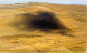 L'ombra nera sul paesaggio (per portella della Ginestra, 2007).
