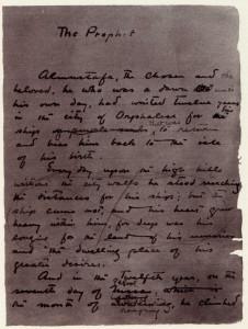 Manoscritto originale dell'opera (Prologo)