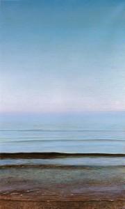 Piero Guccione, Grande spiaggia, 1996