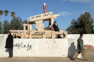Sidi Bouzid, la statua che ricorda Mohamed Bouazizi (ph. Roberto Ceccarelli)
