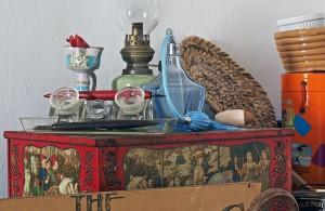 Una bugia e un calamaio da tavolo (ph. Giaramidaro)