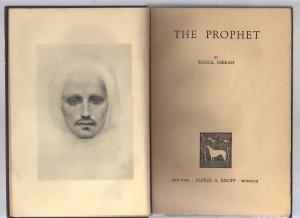 The Prophet, Knopf, 1923 (frontespizio)