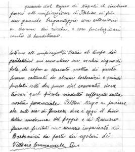 Stralci memorie scritte di Luigi Adriani (Archivio S. Adriani, Rieti).