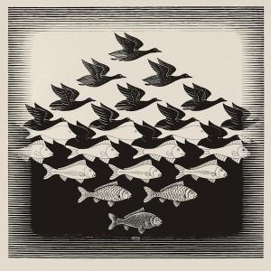 Maurits-Cornelis-Escher-Cielo-e-acqua-1938