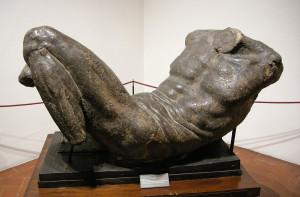 Michelangelo modello-per-una-divinità-fluviale-1524
