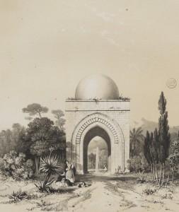 Il-padiglione-della-Cubula-in-una-litografia-pubblicata-in-Henry-Gally-Knight-Saracenic-and-Norman-remains-to-illustrate-the-Normans-in-Sicily-Londra-1840.