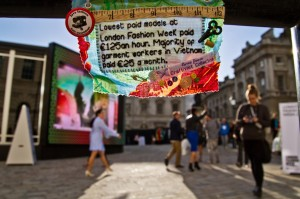 Mini-Protest-Banner-inside-Somerset-House-London-during-London-Fashion-Week..