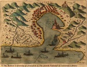 mappa-del-porto-di-Valona-risalente-al-1573-pinargenti
