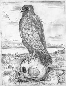 figura-4-bruno-caruso-il-falco-sul-teschio-1980