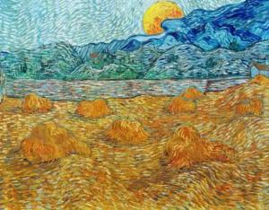 3-van-gogh-paesaggio-con-covoni-di-grano-e-luna-che-sorge-1889