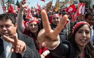 Thousands of people rally against terrorism in Tunisia