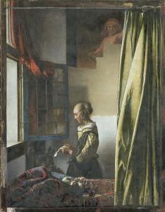 AM-1336_Vermeer, Johannes - Brieflesendes Mädchen am offenen Fenster; Zustand während der Restaurierung 300419, Restaurator Dr. Christoph Schölzel
