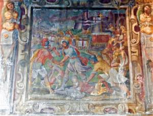affresco-particolare-della-chiesa-di-s-antonio-in-segnano-raffigurante-la-guerra-di-bicocca-ca-xvii-sec