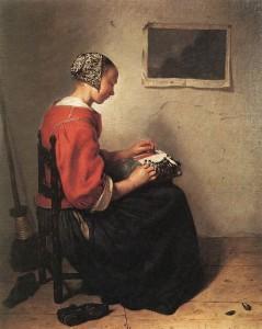 the_lace-maker_by_caspar_netscher
