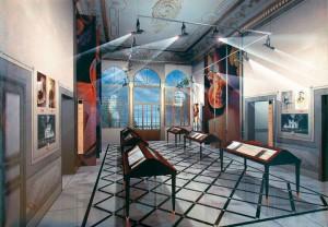 esposizione-di-libri-e-manoscritti-in-una-sala-della-casa-museo