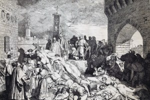 L0072144 Boccaccio's 'The plague of Florence in 1348'