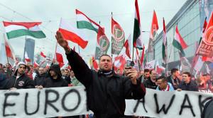 POLAND-POLITICS-FARRIGHT-DEMO